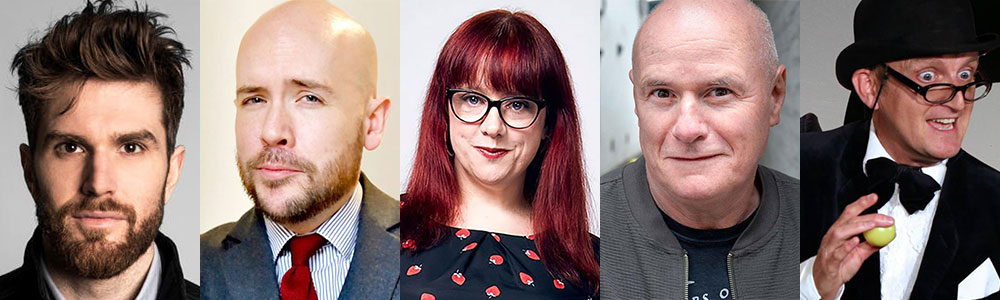 Comedy line up at rewind south including joel dommett and tom allen