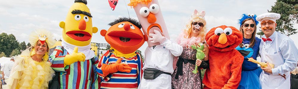 Fancy dress costumes at Rewind music festival